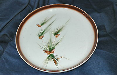 "Vintage ROMCO Round 10"" Plate Platter Classic Pine Cone Pattern Hand Painted"