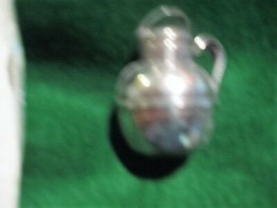 Antique Sterling Silver Miniature Water Jug Suitable For Dollhouse