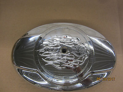 "Genuine Harley-Davidson Flames 103 Air cleaner cover, 103"" 103 in."