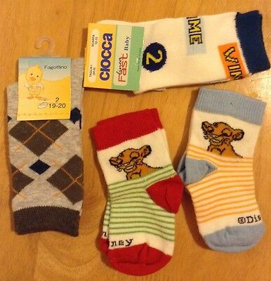 Baby Socks 4 Pairs 0-3 months NEW
