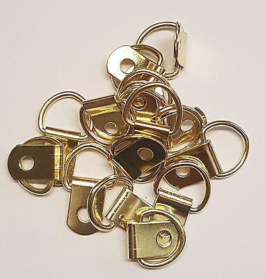 Quality Brass Plated Small D Rings - Assorted Quantity - Picture Framing - Hooks