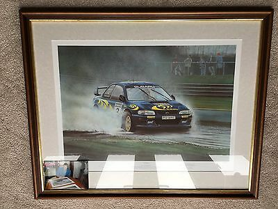 "Colin McRae ""Hat Trick"" limited print by R Goldsbrough + COA + Photo of C McRae"