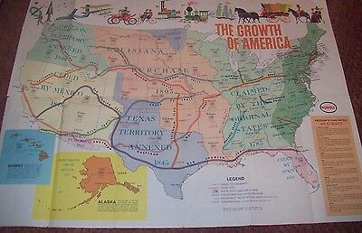 Vintage Humble Oil Co. 1960 Fold Out Brochure The Growth of America, Voting Info