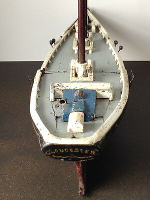 Vintage Handcrafted  Wooden Ship