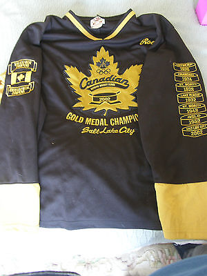 2002 Canadian Hockey Olympic Gold Medal Champions Jersey