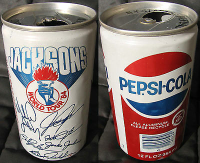 Michael Jackson Canette Cannette PEPSI Drink VICTORY TOUR Emtpy Can USA 1984