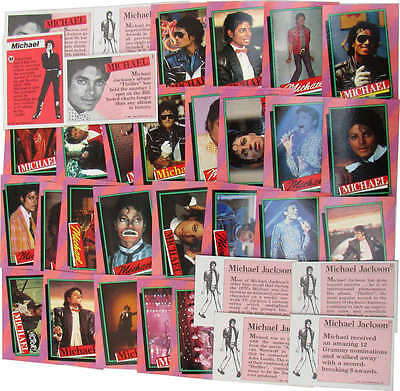 Michael Jackson Lot Cartes TOPPS Pink Trading Cards 1st series Collection 1984