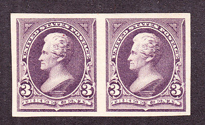 US 268P5 3c Plate Proof Pair on Stamp Paper Pair XF OG H Gem SCV
