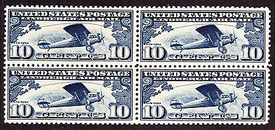US C10 10c Lindbergh Airmail Mint Block of 4 VF OG NH SCV $52 (-001)