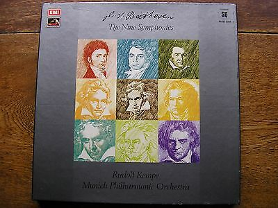 Q4 Sls 892 Beethoven: The Symphonies / 3 Overtures  Kempe / Mpo  8Lp Box   Nm