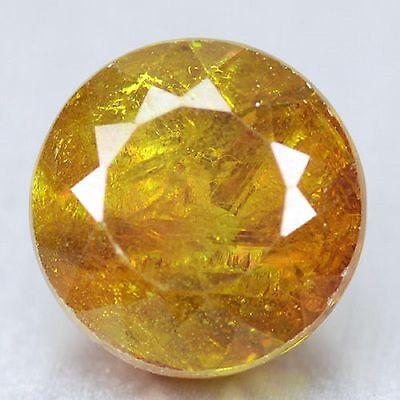 2.94 Cts Rare Sparkling Orange Yellow  Natural Sphalerite Gemstones