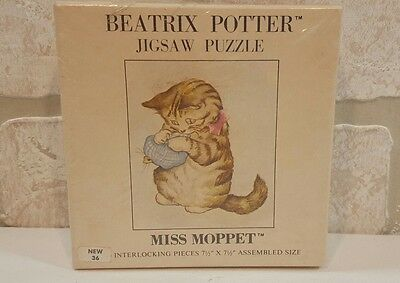 Vintage 1976 SEALED Beatrix Potter Miss Moppet Kitten Jigsaw Puzzle