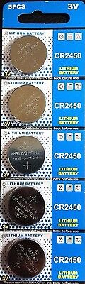 NEW 5x CR2450 Coin Cell Button Battery -KCR2450 DL2450 ECR2450 BR2450 LM2450 USA