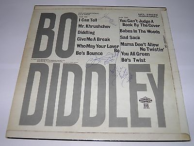 Bo Diddley  -  Bo Diddley LP  FULLY BAND SIGNED in 1963 First Press SUPERB RARE