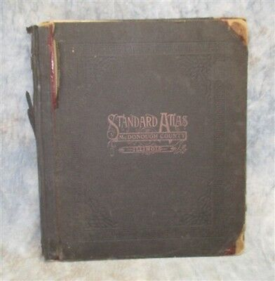 1913 Atlas McDonough County Illinois Plat Book Maps Genealogy Macomb Vintage