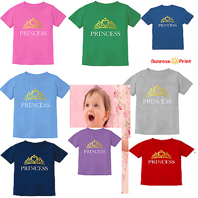 Princess Crown Gift for Daughter - Little Girl Toddler/Infant Kids T-Shirt New