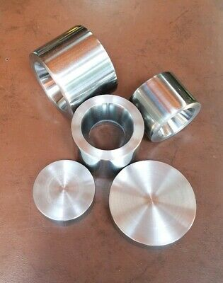 """3 Coin Ring Double Sided Reduction Dies 1.0"""" to 1.5"""" @ 17° and 2 press plates"""