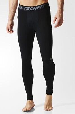 NWT Adidas Men's Tech-Fit Base Long Compression Black Tights XL