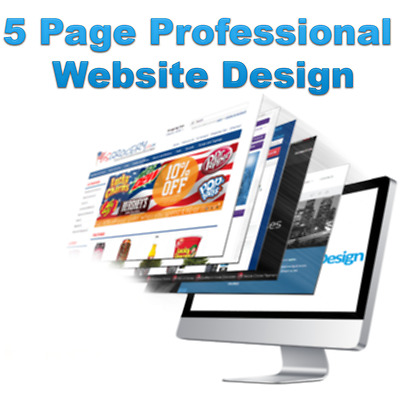 Professional 5 Page Website Design Service! High Quality// Domain And Email! Inc