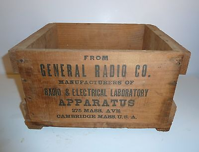 Excellent Rare Early General Radio Wood Box