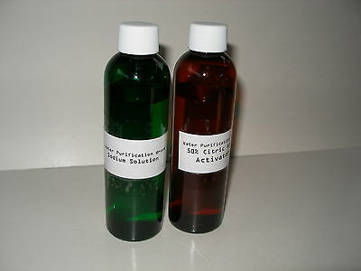 50% Citric acid  activator + sodium solution for Water Purification 4 oz NOT MMS