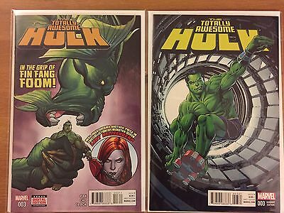 Totally Awesome Hulk 3 regular and Perkins variant cover