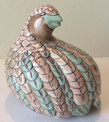 Mid Century Large Quail/Partridge Figurine By Toyo Japan