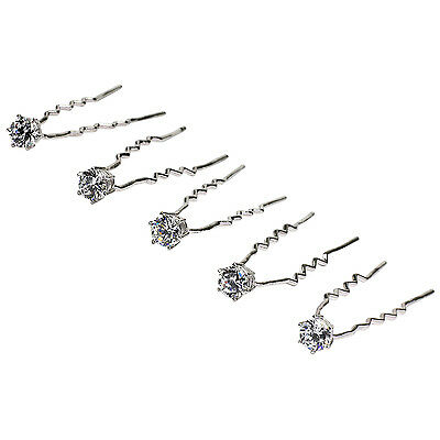 BNWT Womens Wedding Hair Accessory - 5 Hair Pins Handset with Cubic Zirconia