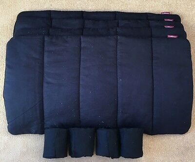 LEMIEUX Black Travel Set Bamboo Pillow Wraps & Bandages - £94 Full Size VGC