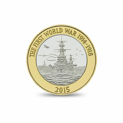 4th Rarest £2 Coin - 2015 ROYAL NAVY Two Pound Coin Circulated - Free P&P