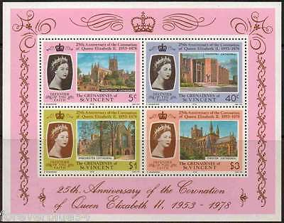 St Vincent Grenadines 1978 SG MS134 MNH Cathedral Coronation 25th Anniversary