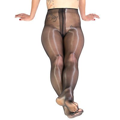 Platino Cleancut 15 Shiny Glossy Wet Look Pantyhose Hosiery