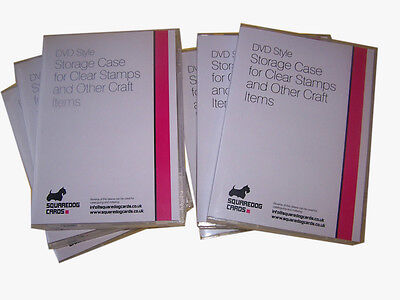 Craft Stamp Storage Cases X 6  Dvd Style For Clear Craft Stamps