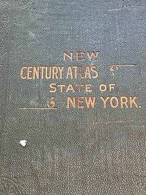 Clinton County Map from 1910 New Century Atlas of New York State