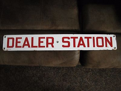 sinclair dealer station sign porcelain
