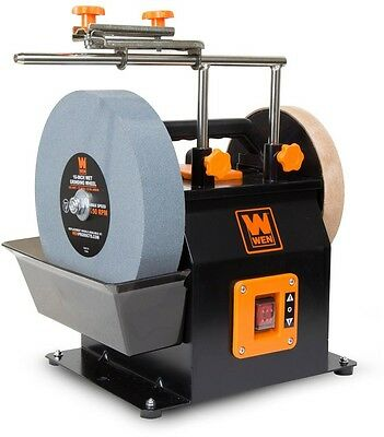 WEN Two-Direction Water Cooled Wet/Dry Orange Heavy-Duty Leather-Stropping Wheel