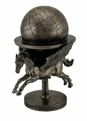Pegasus Carrying Globe Statue Winged Horse Figure by Veronese FREE SHIPPING