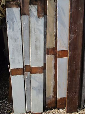 """6"""" x 7/8"""" thick original reclaimed PINE T&G vintage painted boards 55"""" long"""
