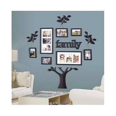 Family Tree Picture Frame Set For Walls Photo Collage Frames Large