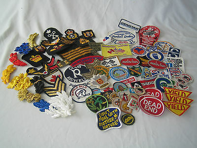 Vintage Lot Sew On Patches Hockey Football Scouts Army Navy Air Force Marines