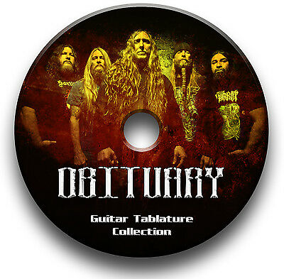 Obituary Death Metal Rock Guitar Tabs Tablature Song Book Software Library Cd