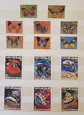 Middle East (Ajman and Mahra State - Yemen) stamp collection