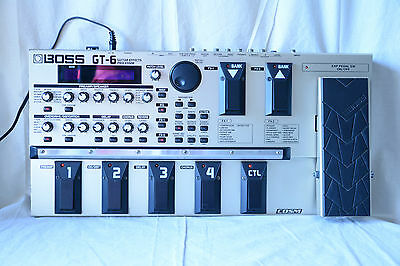 Boss GT6 Guitar Multiple Effects Processor COSM with gig bag and Power Supply
