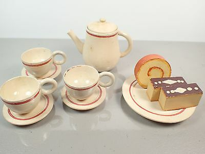 Childs wood Tea Set 1950's Made In Japan In box