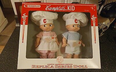 Horsman Limited Numbered Edition Campbell's Kid Chef Doll Set, 1997