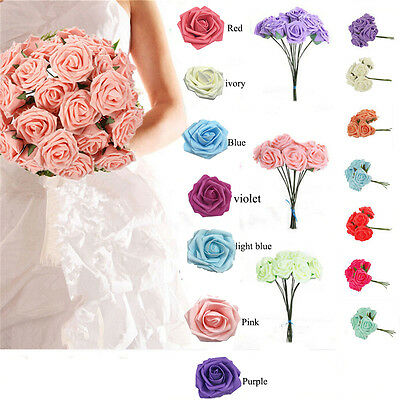 Foam Large Roses Flowers Wedding Bride Bouquet Party Flowers Home Decor Job Lot