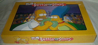New & Sealed The Simpsons Battle Of The Sexes Board Game
