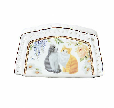 Cat Napkin Holder Long Haired Cats Boxed