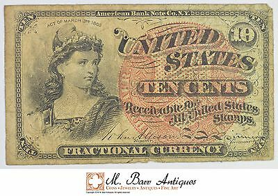 1863 10 Cents 4th Issue Fractional Currency *321