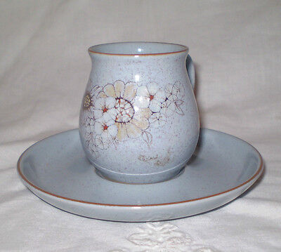 Unused? 1980's Denby Pottery Stoneware Reflections Demitasse Cup & Saucer